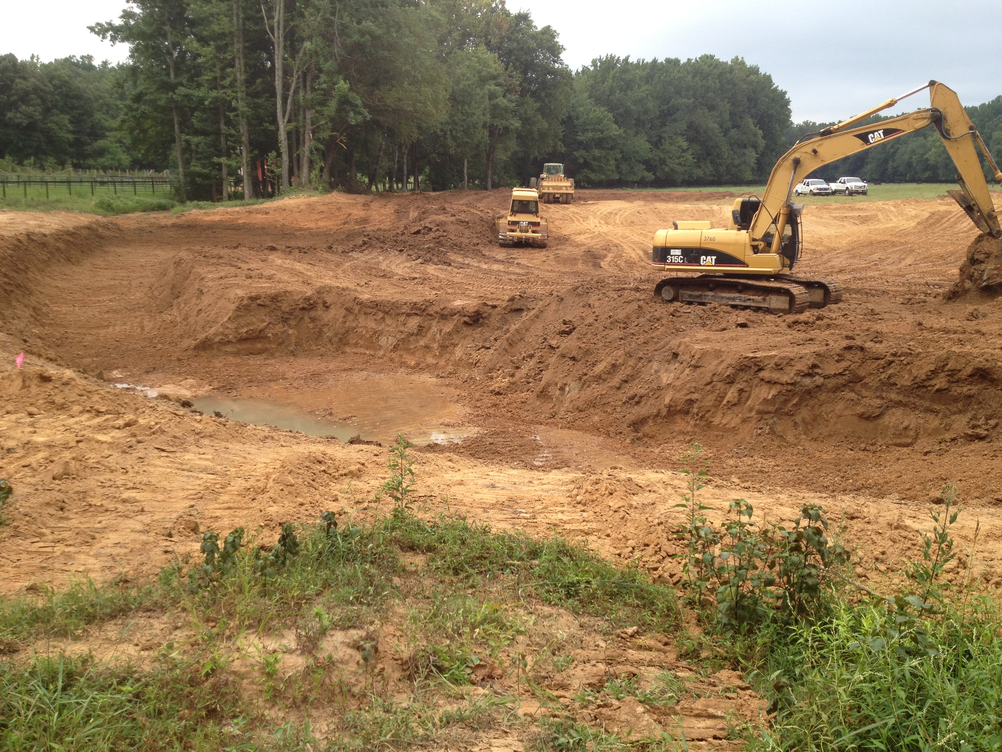 Pond construction for Small pond construction